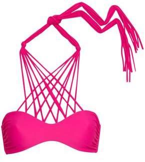 Mikoh Kahala Strap-detailed Halterneck Bikini Top