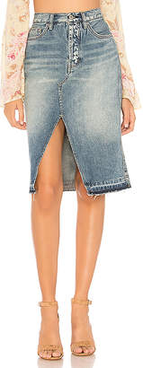 Free People Denim Midi Skirt.