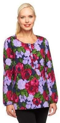 Liz Claiborne New York Long Sleeve Printed Blouse