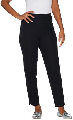 Bob Mackie Bob Mackie's Stretch Pull-On Ankle Pants with Curved Hem