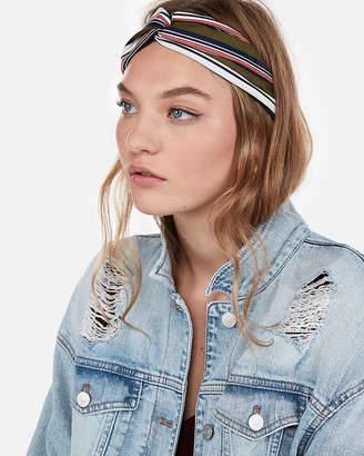 Express Natasha Striped Soft Knot Headband