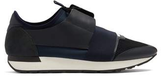 Balenciaga Race Runner Trainers - Mens - Navy