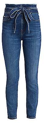 7 For All Mankind Women's Roxanne Paperbag Ankle Skinny Jeans