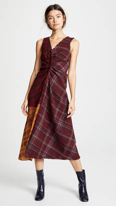 Acne Studios Mixed Media Drape Dress