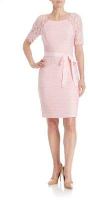NUE by Shani Lace Sleeved Sheath Dress