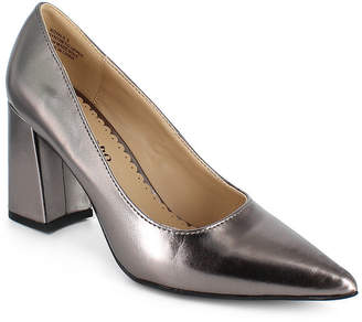 Zigi Womens Slip-on Pointed Toe Block Heel Royal Pumps