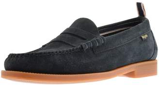 G.H. Bass Weejun II Larson Suede Loafers Navy