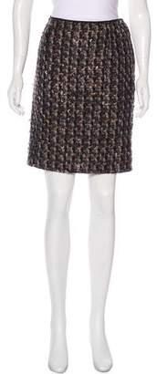 Lanvin Mini Wool Skirt