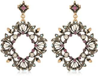 Alcozer & J Ruby Wreath Earrings