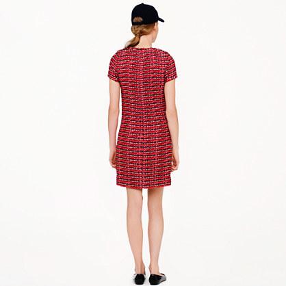 J.Crew Collection crimson tweed dress