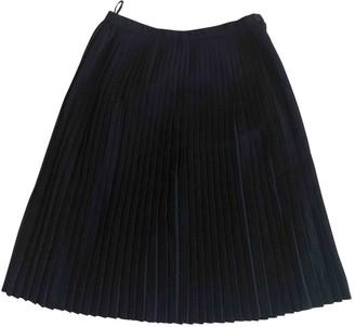 Rodier Navy Wool Skirt for Women Vintage