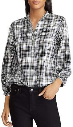 Ralph Lauren Plaid Puff Sleeve Shirt
