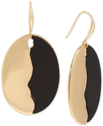 Robert Lee Morris Soho Gold-Tone Colorblock Disc Drop Earrings