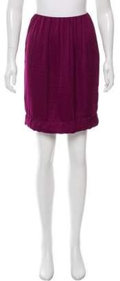 Lanvin High-Waist Satin Skirt