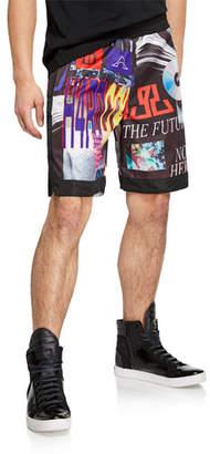 Diesel Men's P. Kumi Graphic Print Shorts