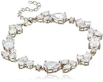 Nina Fancy Pear/Round Cubic Zirconia Link Bracelet