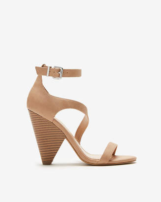 Express Asymmetrical Cone Heeled Sandals