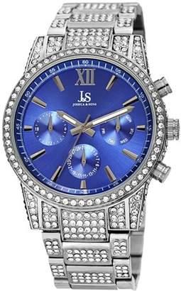 Joshua & Sons Silver Tone Dress Quartz Watch With Stainless Steel Strap [JX138SSBU]