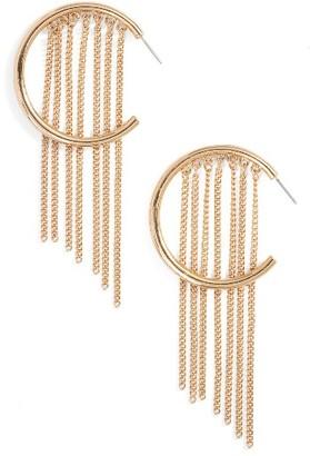 Women's Ettika Hoop Chain Fringe Earrings $40 thestylecure.com