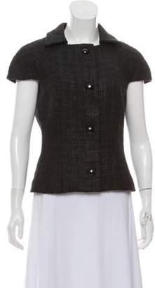 Michael Kors Short Sleeve Tweed Jacket Short Sleeve Tweed Jacket