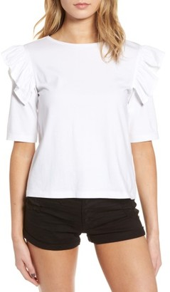 Women's Bp. Short Sleeve Ruffle Tee $29 thestylecure.com
