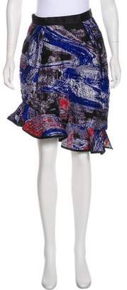 Prabal Gurung Knee-Length Patterned Skirt