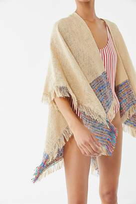 Urban Outfitters Woven Fringe Ruana