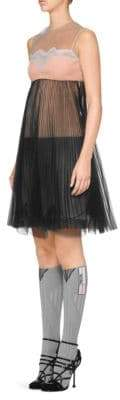Prada Tulle Lace Dress