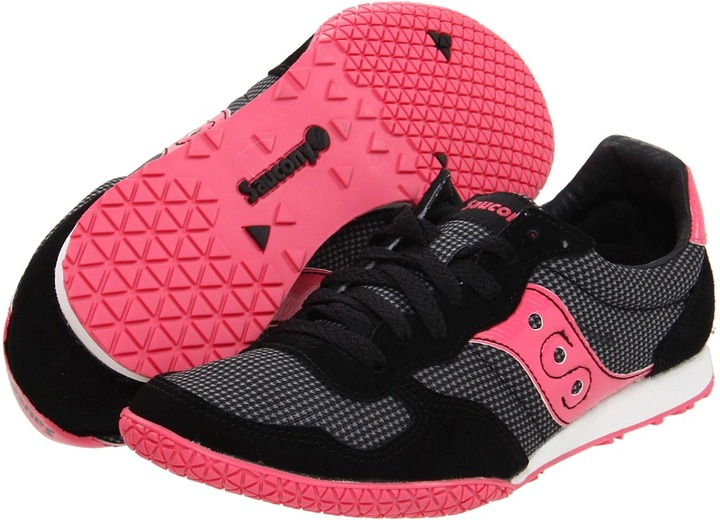 Saucony Bullet Houndstooth (Black/Pink) - Footwear