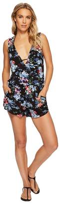 Green Dragon Botanical Night Claire Sleeveless Romper Women's Jumpsuit & Rompers One Piece