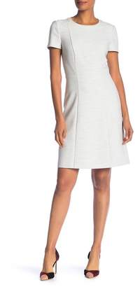 BOSS Dipela Short Sleeve Ponte Sheath Dress