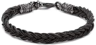 Emanuele Bicocchi Fishtail braided sterling silver bracelet