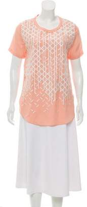 3.1 Phillip Lim Embroidered Short Sleeve Tunic