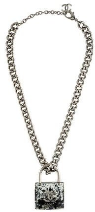 Chanel Chanel CC Padlock Curb Chain Necklace
