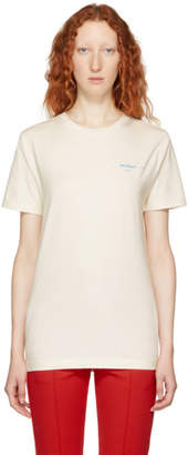 Off-White Off White White Gradient Slim Fit T-Shirt