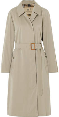 Burberry The Brighton Cotton-gabardine Trench Coat - Beige