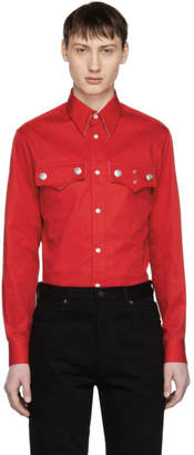 Calvin Klein Red Western Flap Pocket Shirt