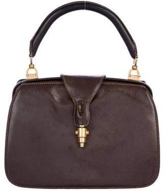 Gucci Vintage Leather Frame Bag