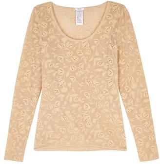Wolford Rachel Almond Pointelle-knit Top