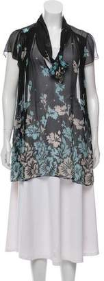 Temperley London Sheer Silk Blouse