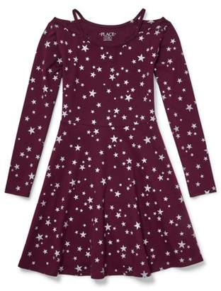 Children's Place The Star Cluster Cutout Long Sleeve Knit Dress (Little Girls & Big Girls)