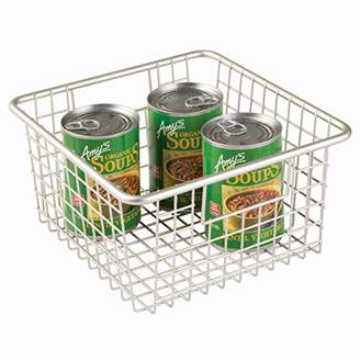 InterDesign Forma Household Wire Storage Basket with Handles for Kitchen Cabinets