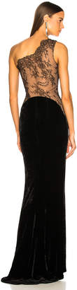 Stella McCartney One Shoulder Gown in Black | FWRD
