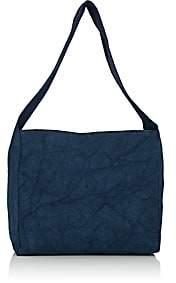 Barneys New York WOMEN'S CANVAS HOBO BAG-BLUE