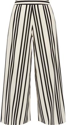 Alice + Olivia Alice Olivia - Sherice Striped Georgette Wide-leg Pants - Ecru $355 thestylecure.com
