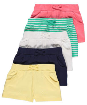 George Assorted Jersey Shorts 5 Pack