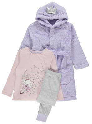George Pink Bunny Pyjamas and Dressing Gown