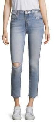 Current/Elliott Metallic-Trimmed Distressed Jeans