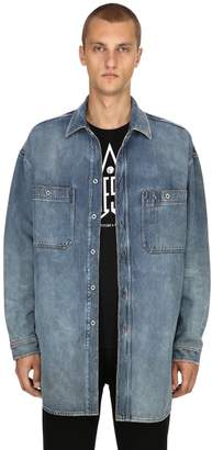 Diesel Oversized Cotton Denim Shirt Jacket