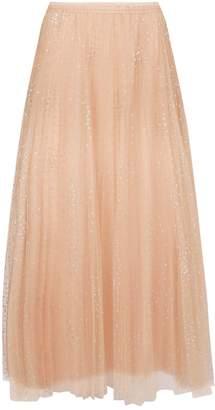 RED Valentino Glitter Dot Midi Skirt